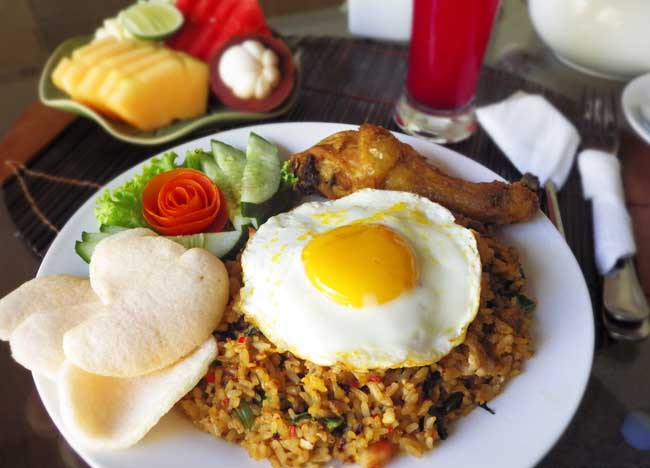 Indonesia Nasi Goreng Breakfast