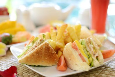 Sandwich in the buah bali villas